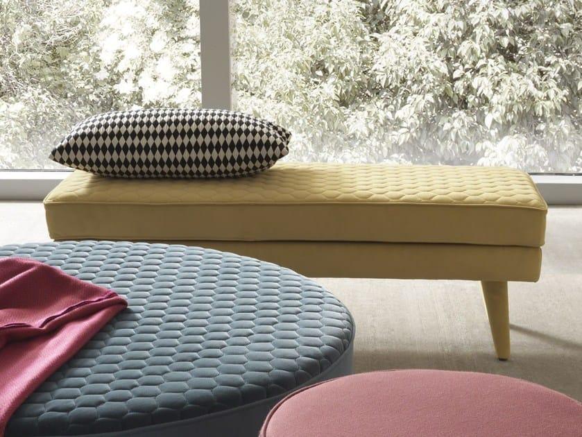 Contemporary style fabric bench COROLLE | Bench - Bolzan Letti