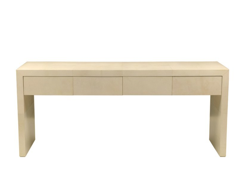 Rectangular wooden console table CORUÑA | Console table with drawers - Galiatea