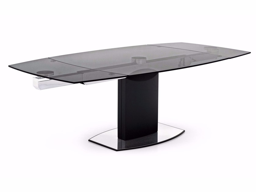 Extending glass table COSMIC - Calligaris
