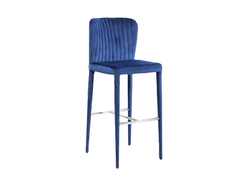 Polyester counter stool with footrest COSMOS | Counter stool - KARE-DESIGN