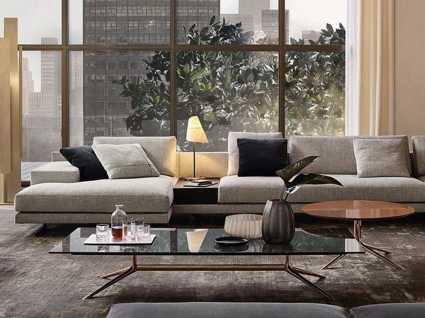 Tavolino basso rettangolare in marmo MONDRIAN | Tavolino rettangolare by poliform