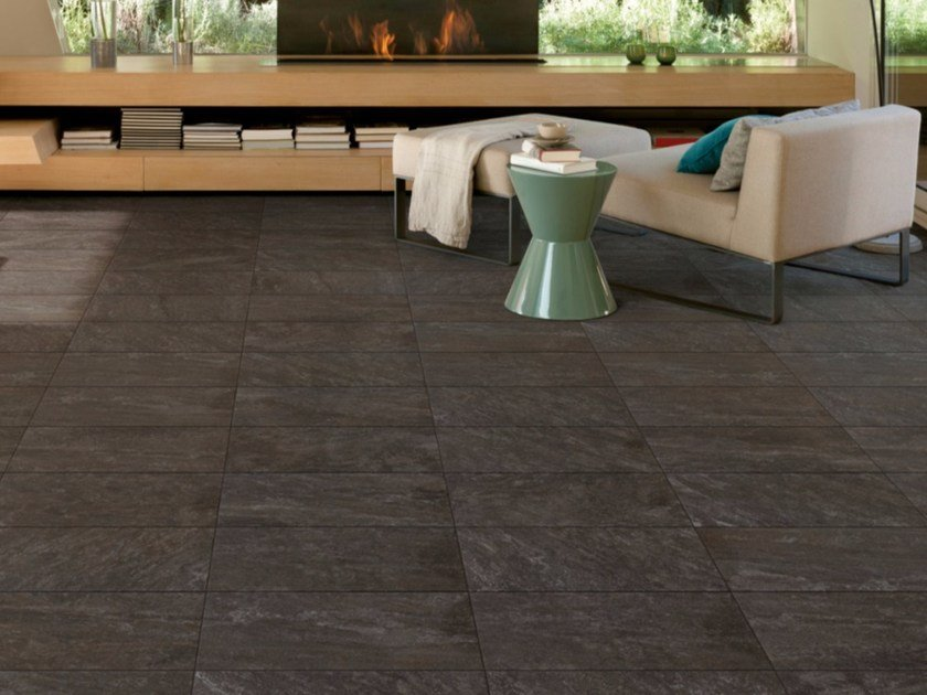 Indoor/outdoor porcelain stoneware flooring with stone effect COSMOS by Saime Ceramiche