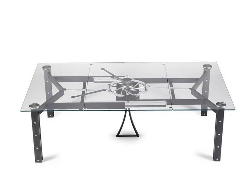 Tavolo quadrato allungabile beautiful tavolo quadrato allungabile abete massello bicolore - Tavolo cristallo allungabile usato ...