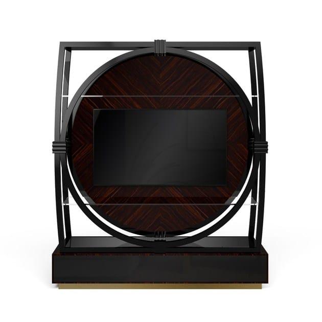 Mobile TV in legno con libreria COSTANCE | Mobile TV by MARIONI