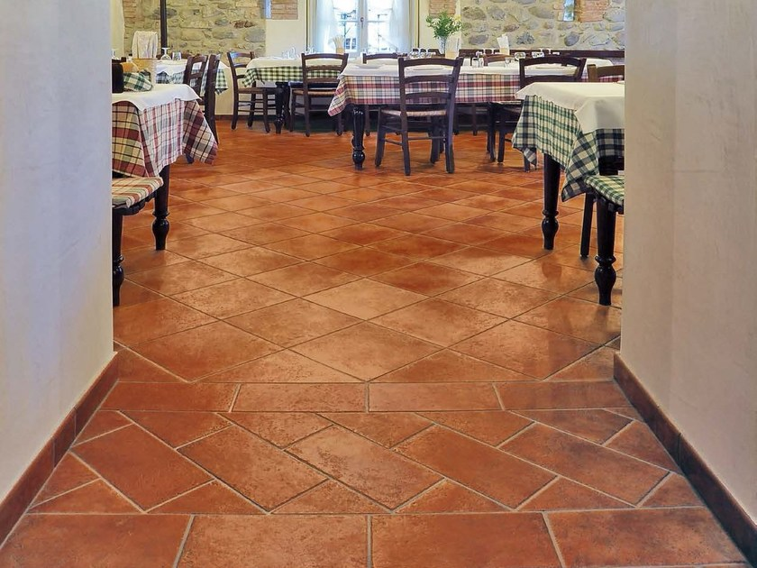 Glazed stoneware flooring with terracotta effect COTTO ALBERGATI | Flooring - Panaria Ceramica