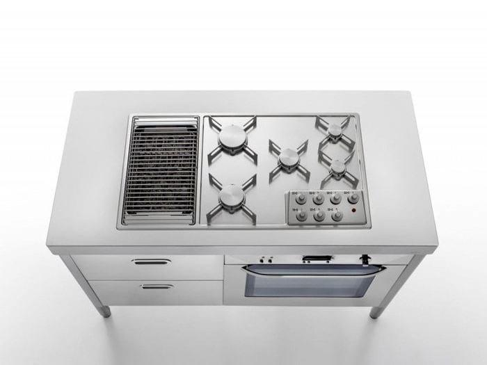 Cucina a libera installazione in acciaio inox cottura 130 for Cucina libera installazione