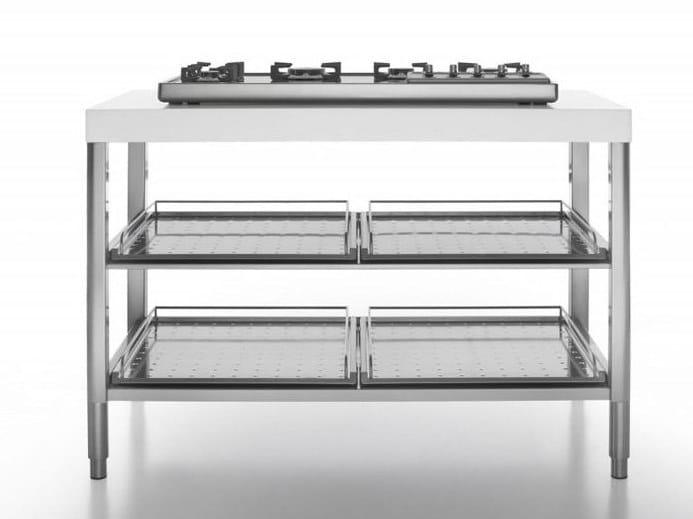 Cucina piano cottura in acciaio inox cottura 130 piano - Piano cucina acciaio ...