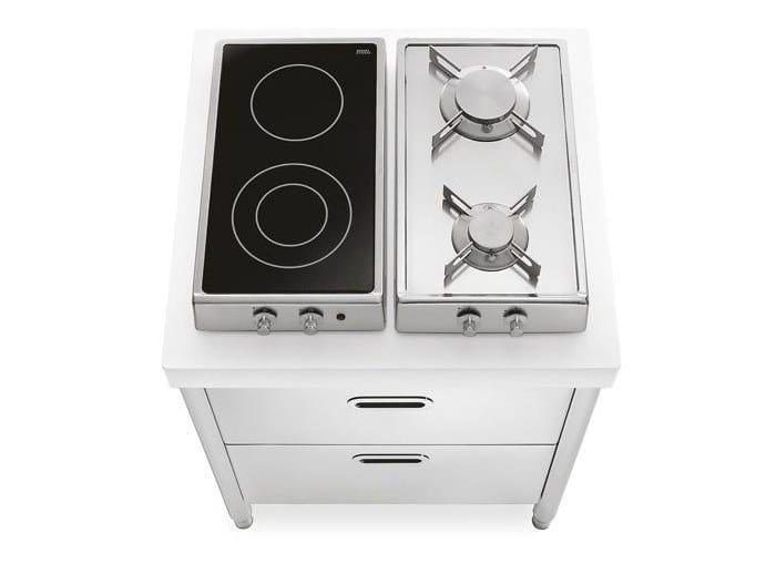 Cucina piano cottura in acciaio inox cottura 70 cucina - Piano cucina acciaio inox ...