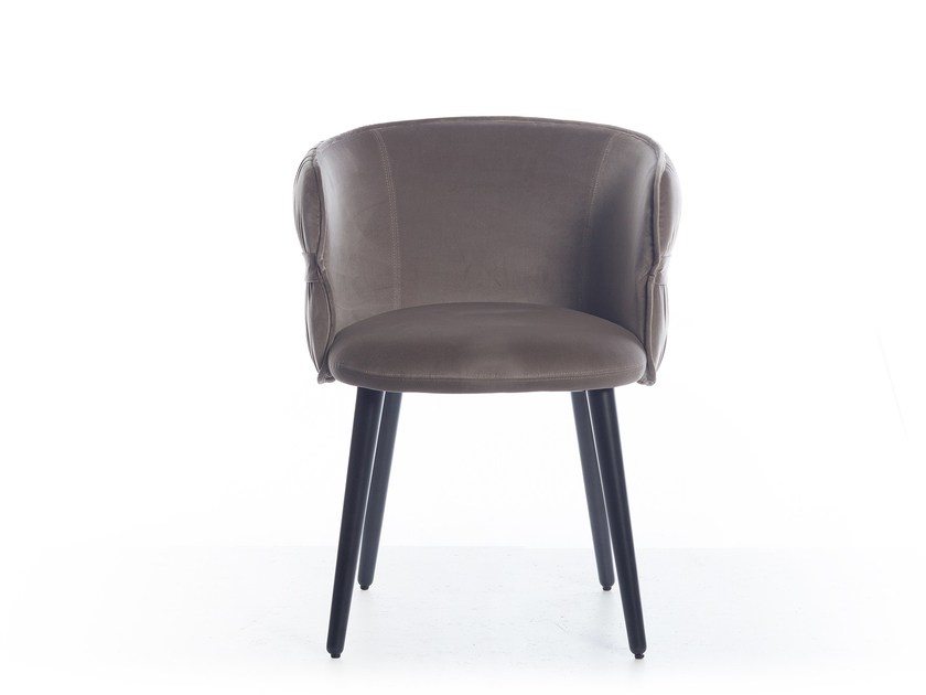 Fabric easy chair with armrests COULISSE by Potocco