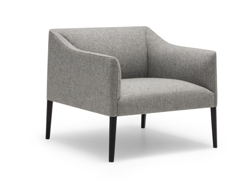 Fabric easy chair with armrests COUVÉ | Easy chair - Andreu World