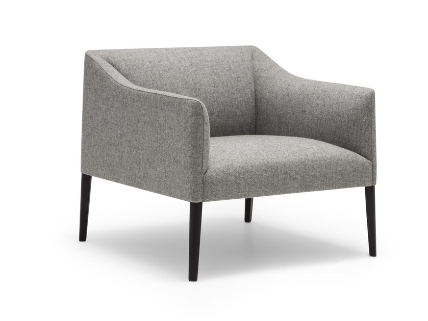 Fabric easy chair with armrests COUVÉ | Easy chair by Andreu World