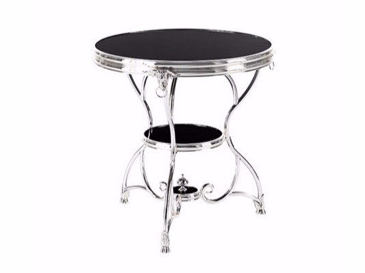 Round chromed brass coffee table for living room COVENT - Gianfranco Ferré Home