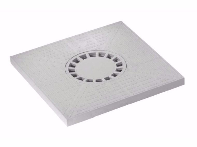 Manhole cover and grille for plumbing and drainage system COVER WITH SIPHON by Dakota