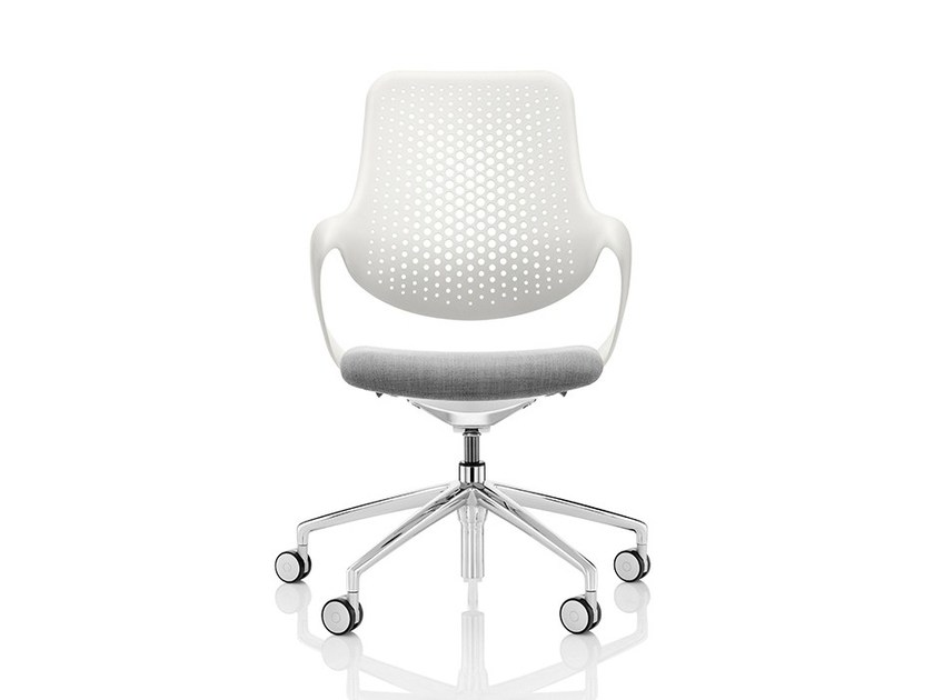 Swivel task chair with 5-Spoke base with armrests COZA - Boss Design