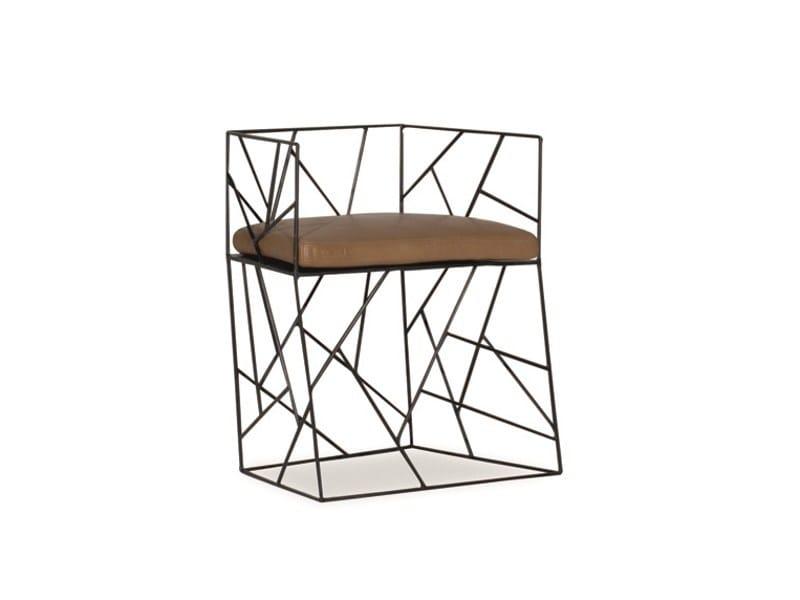 Metal easy chair CRAKLÉ | Easy chair - BAXTER