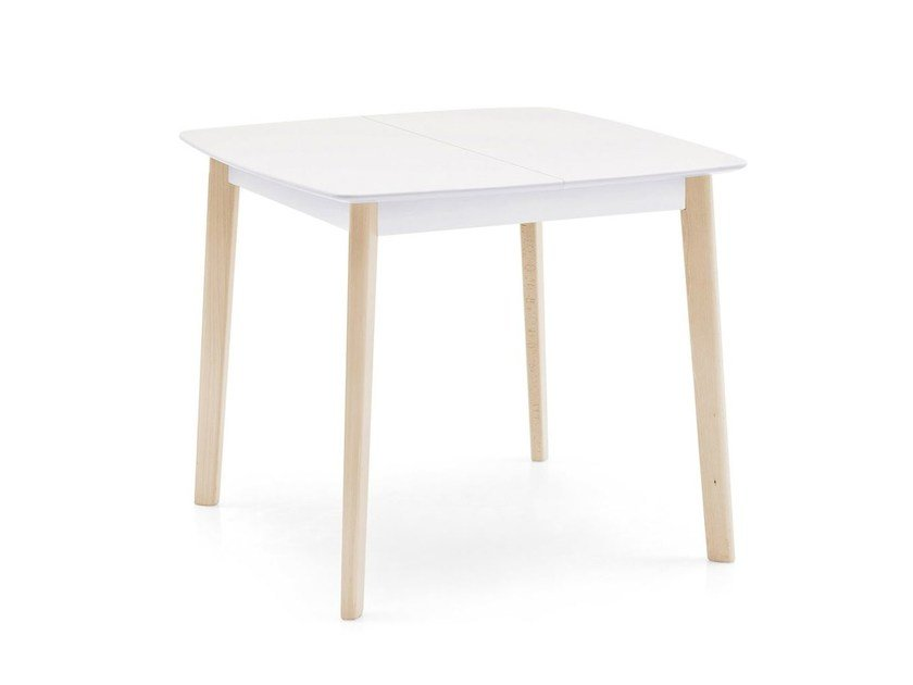 Extending wooden table CREAM | Extending table - Calligaris