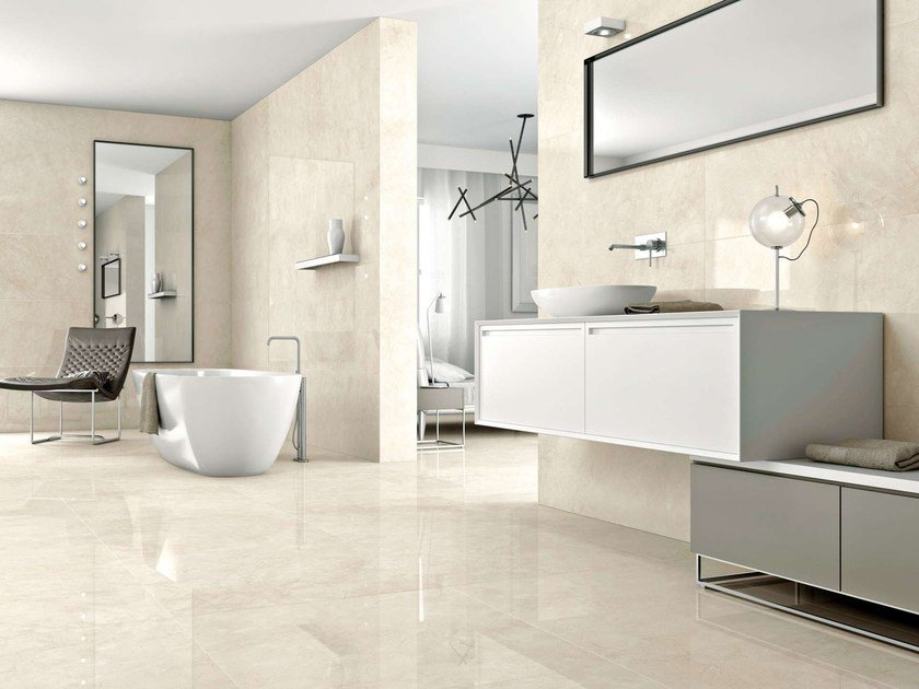 Porcelain stoneware wall tiles / flooring CREAM by Museum
