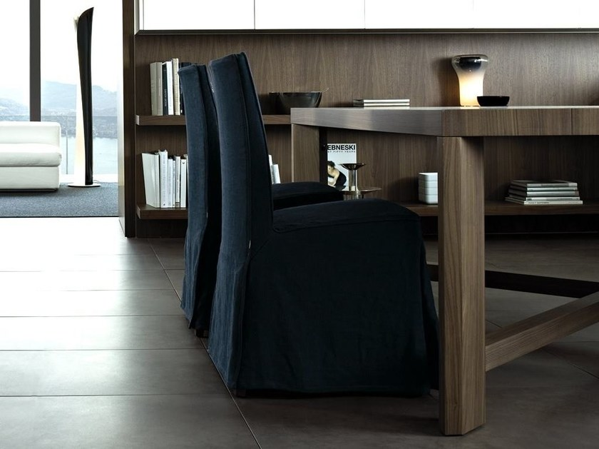 Upholstered fabric chair CRETA DUE by poliform