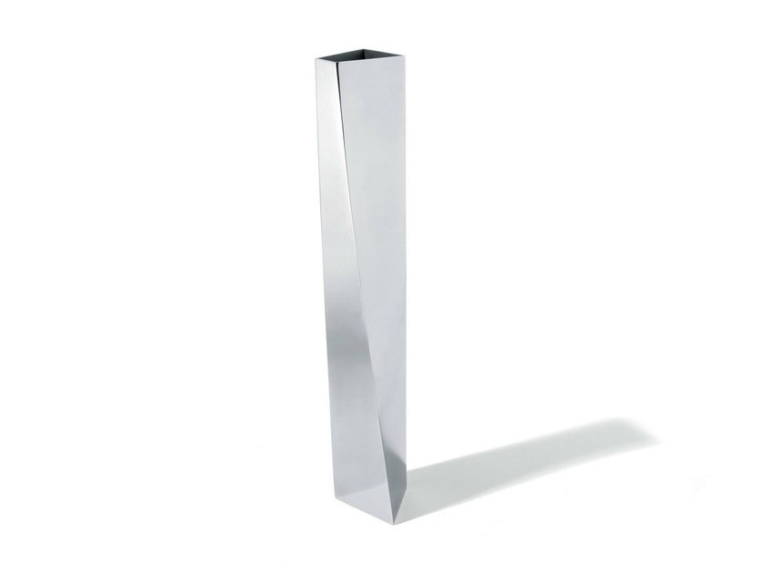 Contemporary style stainless steel vase CREVASSE - ALESSI