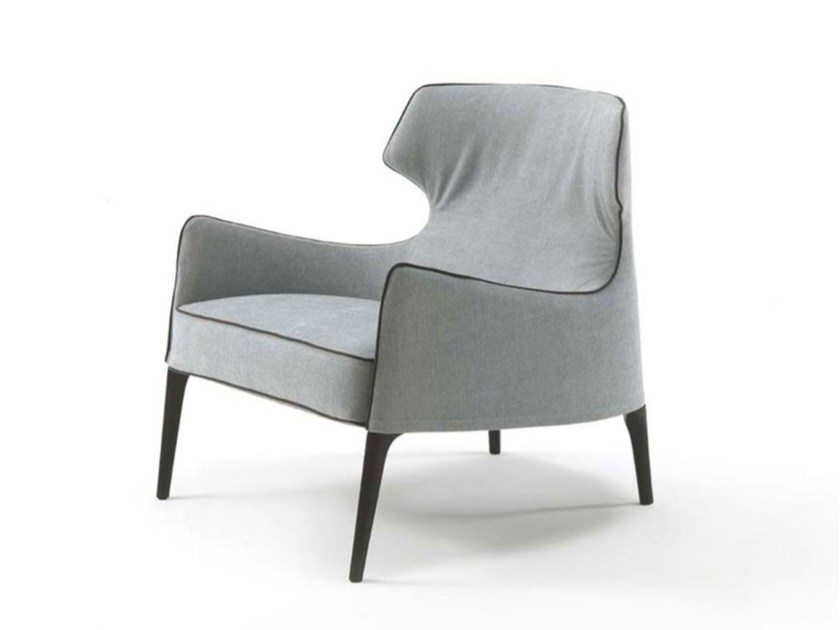 Bergere fabric armchair with armrests CROSBY | Fabric armchair - FRIGERIO POLTRONE E DIVANI