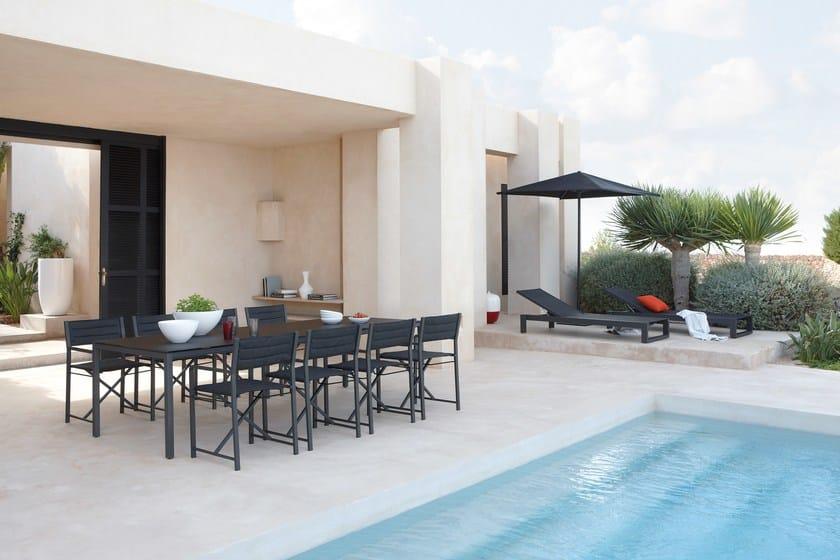 Sedia pieghevole in batyline cross sedia in alluminio for Piani casa spec