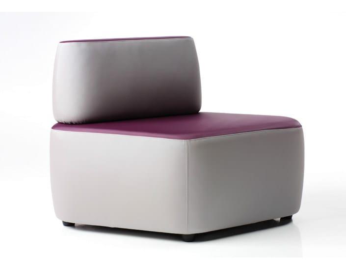 Sectional modular armchair CROSS | Armchair - D.M.