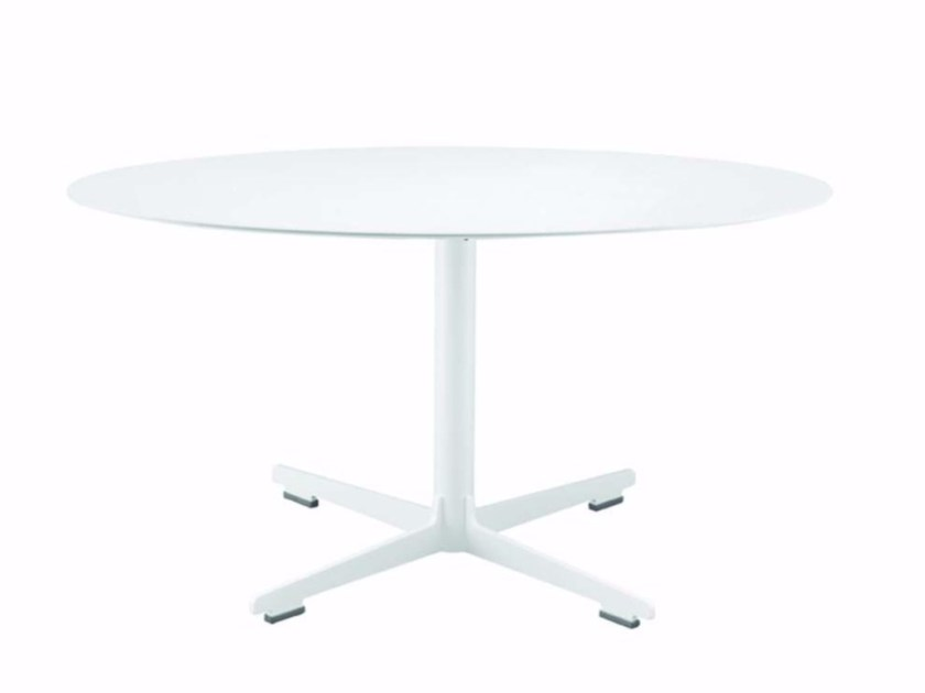 Round coffee table with 4-star base CROSS TABLE - 572_O - Alias