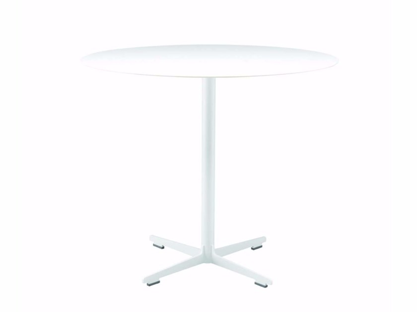 Round table with 4-star base CROSS TABLE - 573_O - Alias