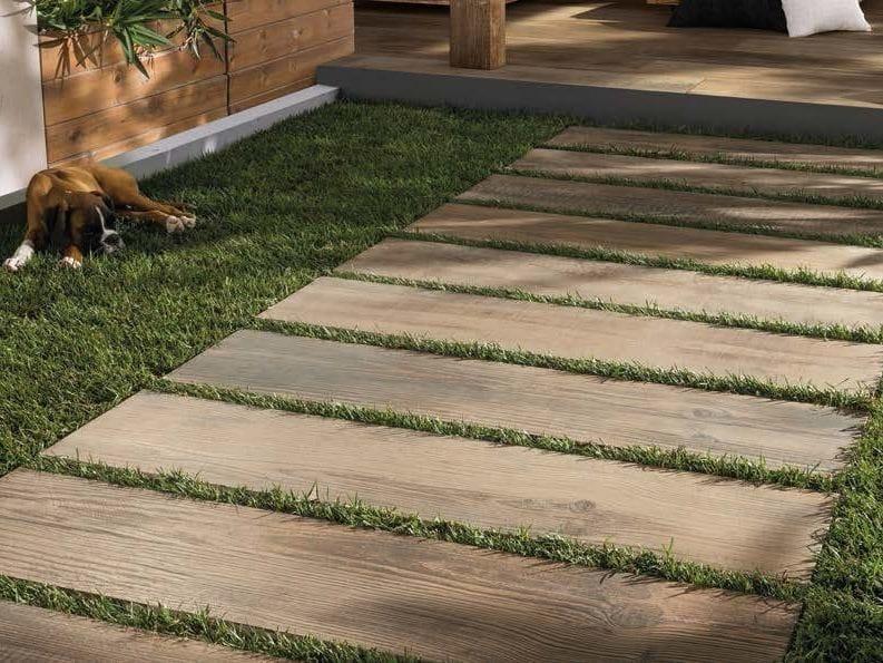 Pavimento per esterni in gres porcellanato effetto legno - Pavimento madera exterior ...
