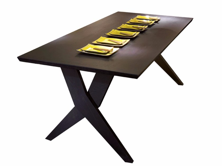 Rectangular wooden table CROSSING | Table by SOFTHOUSE
