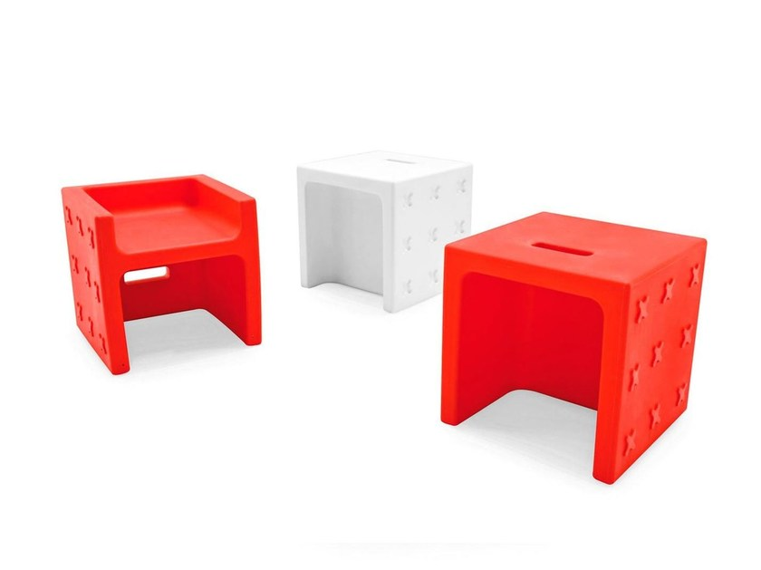 Polyethylene stool / coffee table CROSSOVER - Calligaris