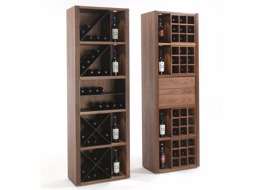 Solid wood bottle rack CRU by Riva 1920