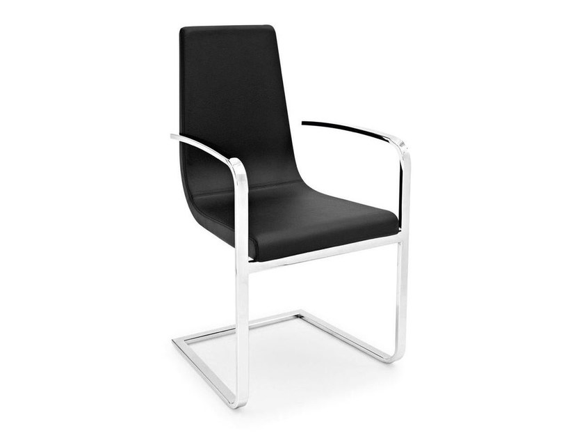 Cantilever chair with armrests CRUISER | Chair with armrests - Calligaris
