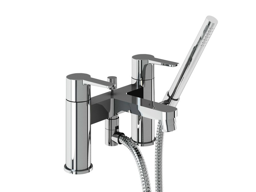 2 hole bathtub mixer with hand shower CRYSTAL | Bathtub mixer with hand shower - Polo
