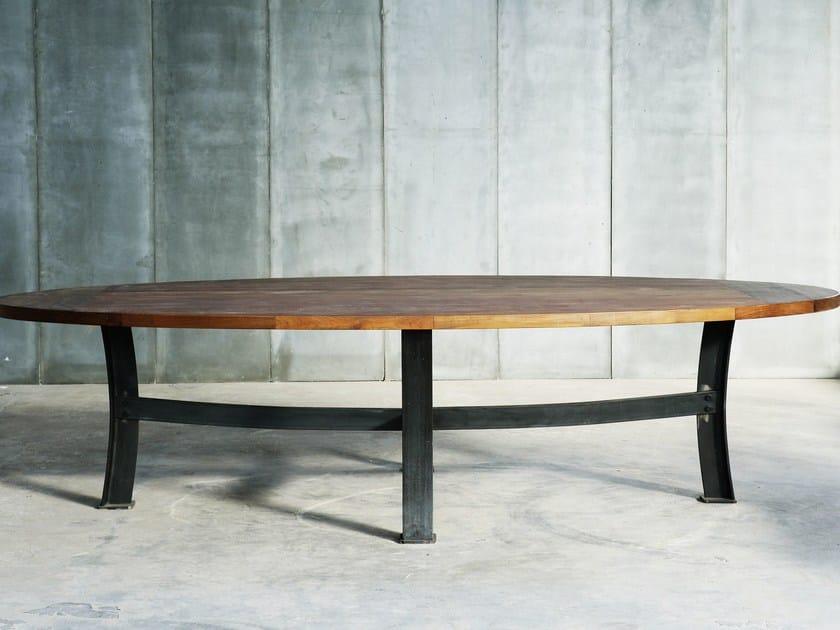 Teak table CS OV by Heerenhuis