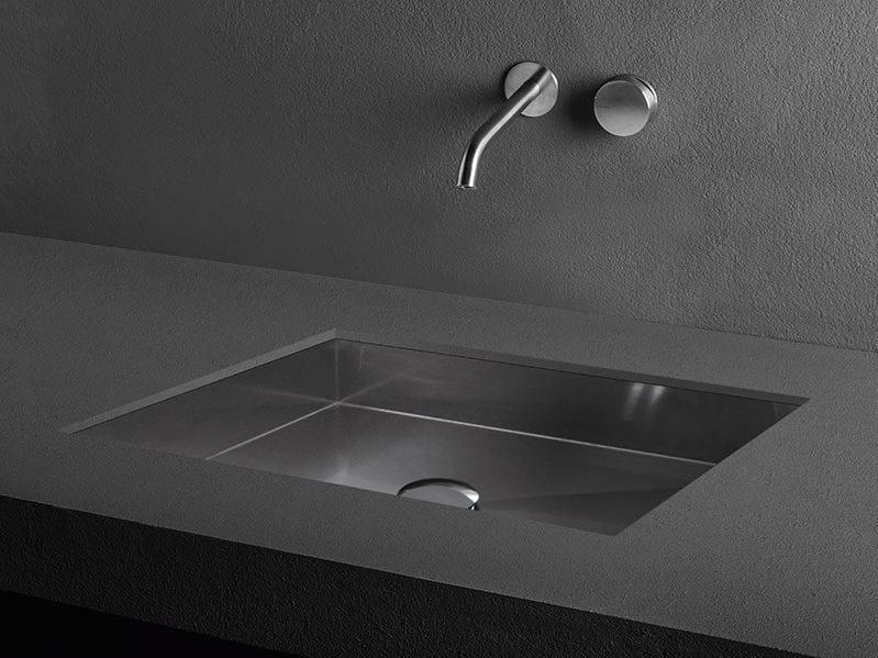 Undermount stainless steel washbasin CUBE   Undermount washbasin by MAKRO