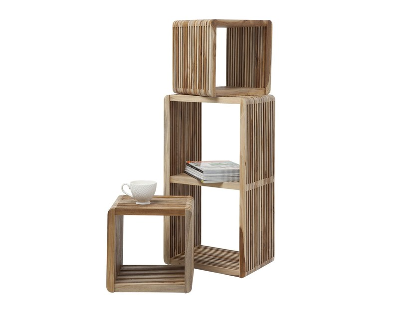 Open modular wooden bookcase CUBE MICADO - KARE-DESIGN