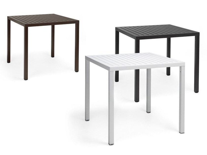 Contemporary style height-adjustable square contract table CUBE by Nardi