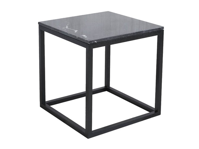 Oak Coffee Table Bedside Table Cube Table Black Oak Marble By Kristina Dam Studio