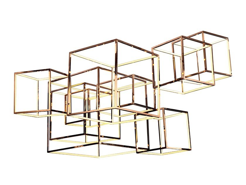 LED metal pendant lamp CUBE-X by Aromas del Campo