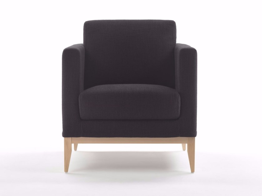 Armchair with armrests CUBIC BASE W | Armchair by Marelli