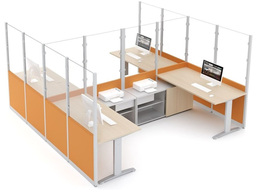 Glass office partition CUBIC - MDD