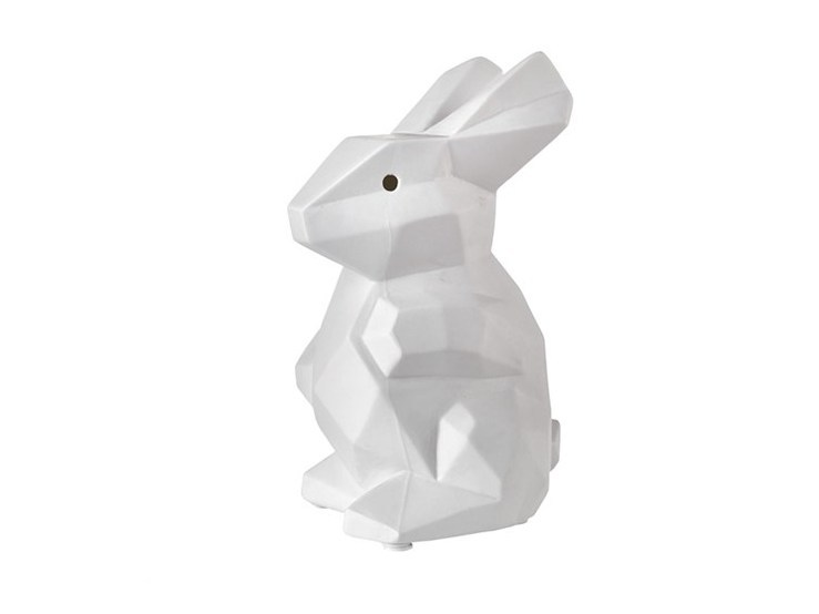 Porcelain table lamp CUBIC RABBIT STANDING - Pols Potten