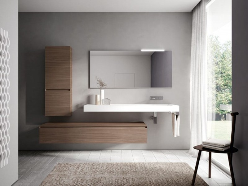 Wooden bathroom furniture set CUBIK | Bathroom furniture set by Idea