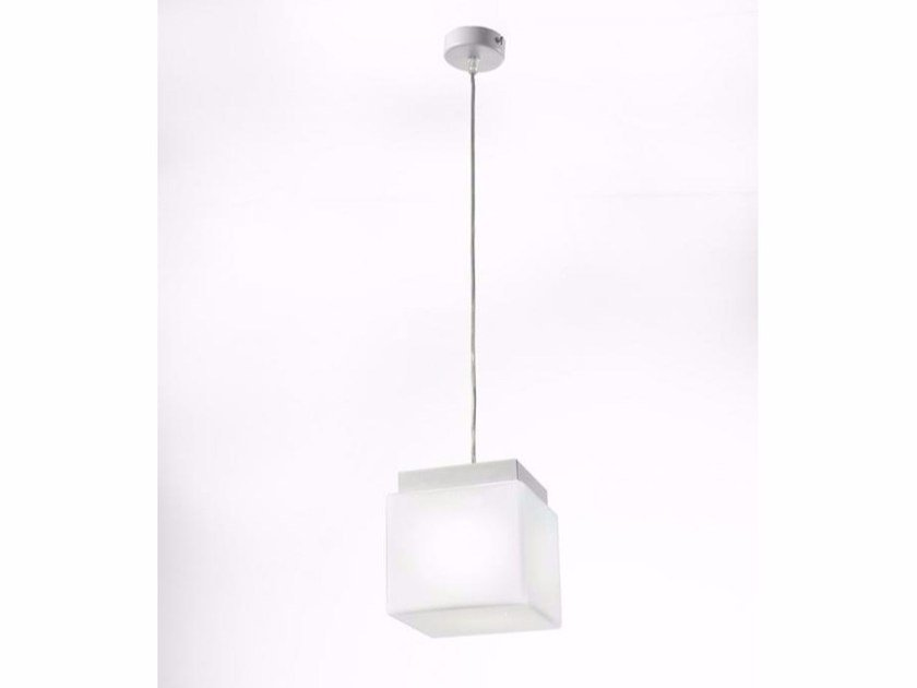 Blown glass pendant lamp CUBIS | Pendant lamp - Ailati Lights