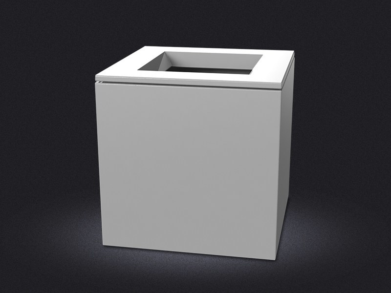 Resin laundry container CUBO SMALL | Laundry container - Vallvé Bathroom Boutique