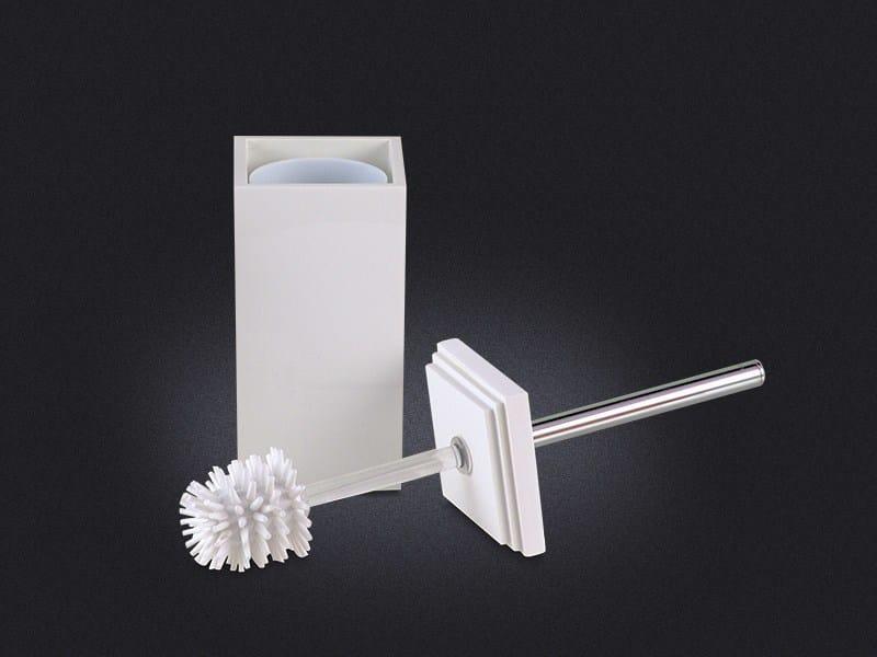 Resin toilet brush CUBO   Toilet brush - Vallvé Bathroom Boutique