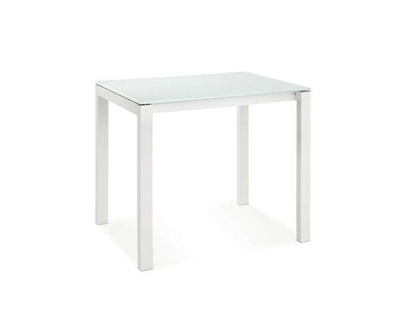 Extending square glass table CUBOTTO - CREO Kitchens by Lube