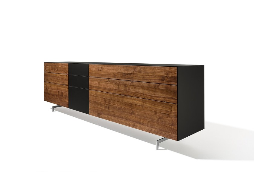Wood and glass sideboard with drawers CUBUS PURE | Sideboard with drawers - TEAM 7 Natürlich Wohnen