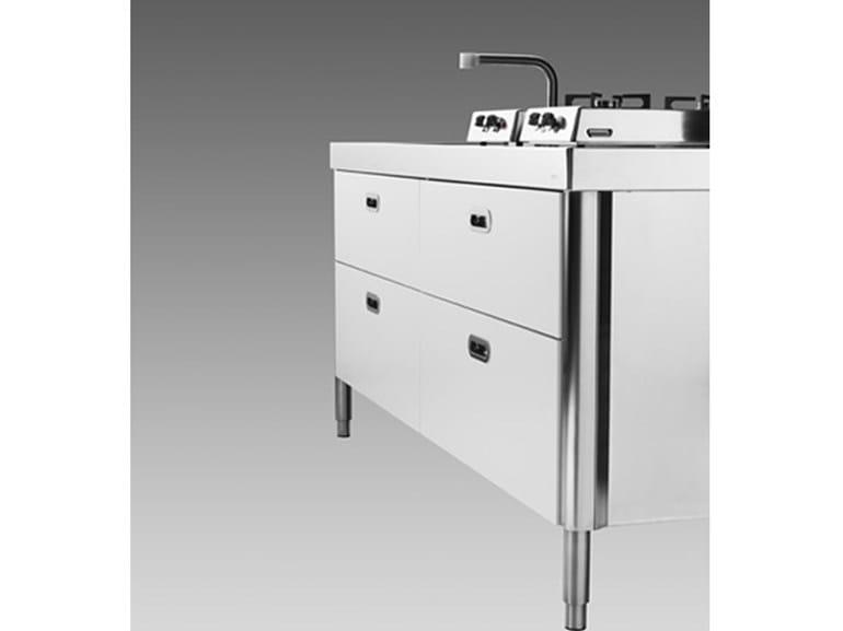 Cucina 190 funzionalit cucina in acciaio inox by alpes inox for Cucine alpes inox prezzi
